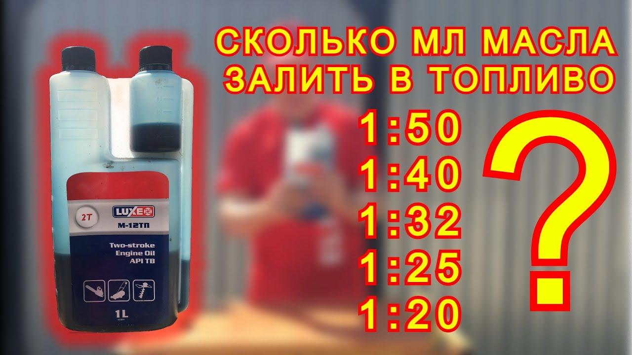 разбавление бензина маслом для триммера