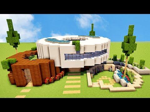 minecraft tuto maison moderne vraiment originale youtube. Black Bedroom Furniture Sets. Home Design Ideas