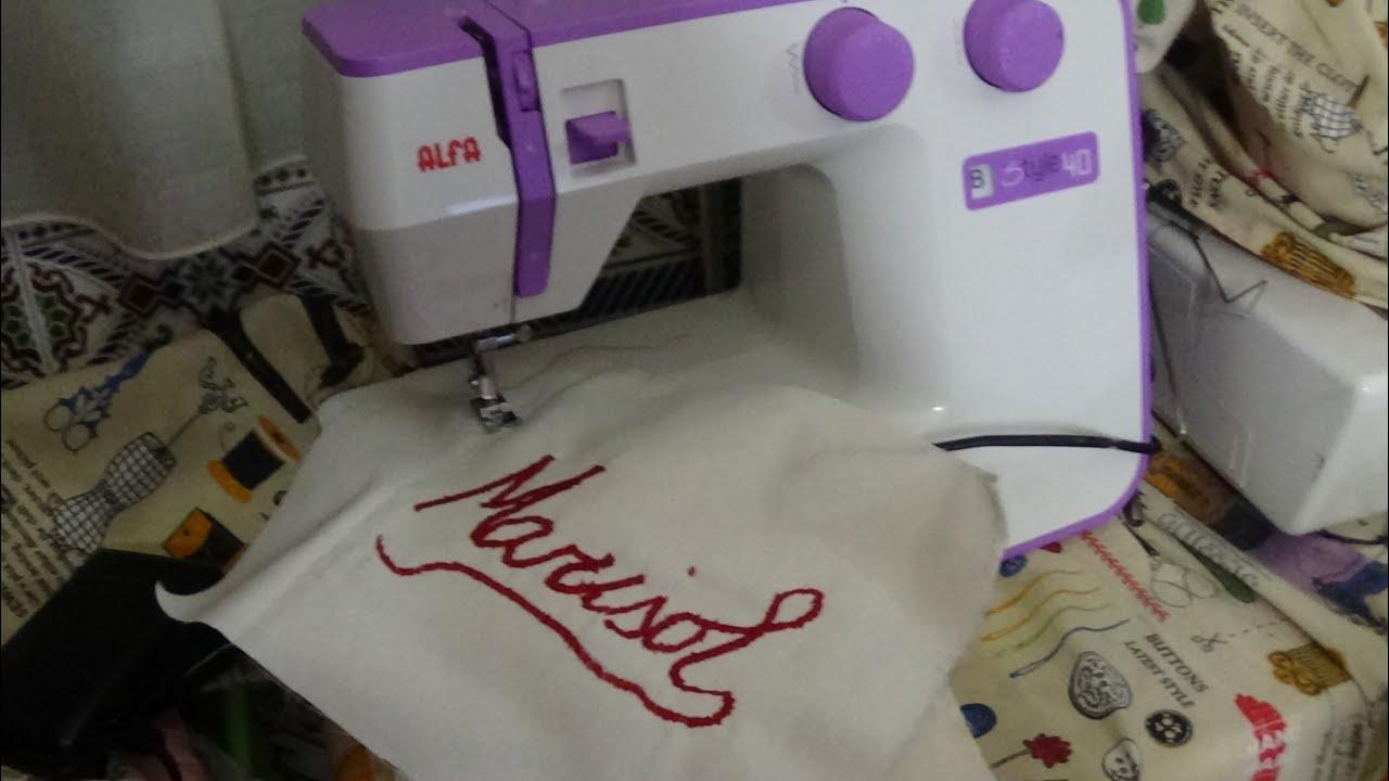 Borda en una máquina de coser casera - YouTube
