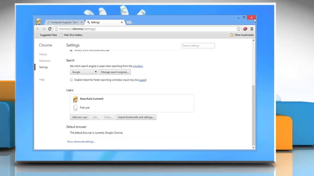 Make Google™ Chrome Default Browser in Windows® 8