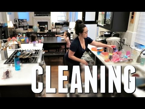CLEANING THE KITCHEN! - May 20, 2017 -  ItsJudysLife Vlogs thumbnail