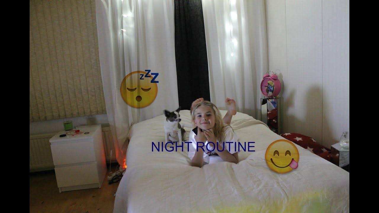 NIGHT ROUTINE (school edition) - YouTube