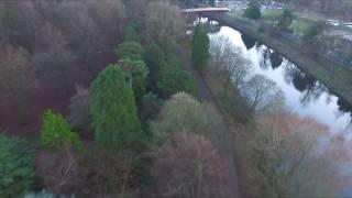 Cardiff Bute Park sunset