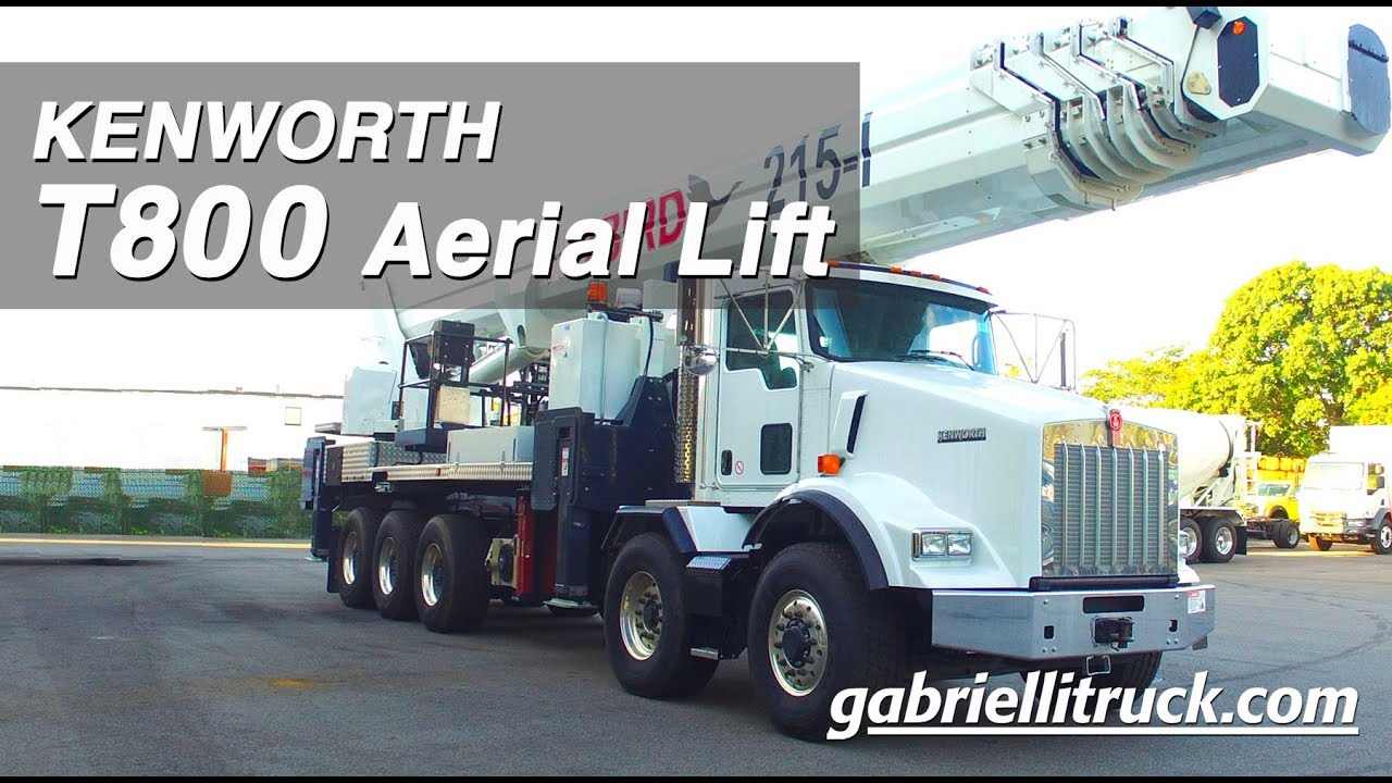 Gabrielli Truck Sales >> KENWORTH T800 Aerial Lift Truck FOR SALE - YouTube