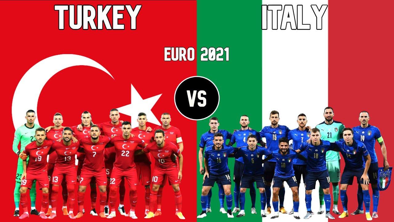 Turkey vs Italy Football National Teams Euro 2021 - YouTube