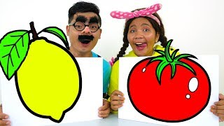 Learn Colors and Names of Vegetables - Educational Video for Children