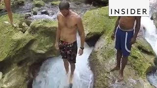 Jump Through The Rabbit Hole At This Jamaican Waterfall