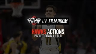 Pinch to Downhill DHO || NBA Action