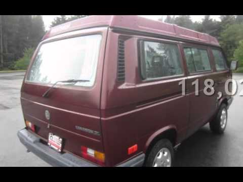 1990 volkswagen bus vanagon gl camper for sale in bellevue wa youtube. Black Bedroom Furniture Sets. Home Design Ideas