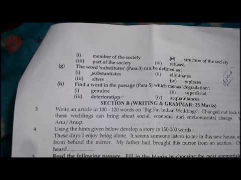 Class 10 English Questions Paper for|| SA2 || (2016-17) || CBSE board Exams