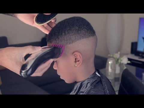 2017 Haircut | Fade under 25 minutes for your kids!