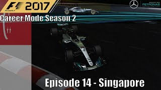F1 2017 Career Mode Season 2 Part 14 - Singapore (Major Problems For Title Contenders)