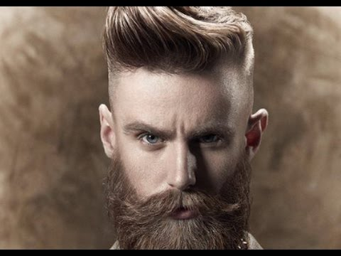 Mens Hairstyles Short Sides Long Top with Beard - YouTube