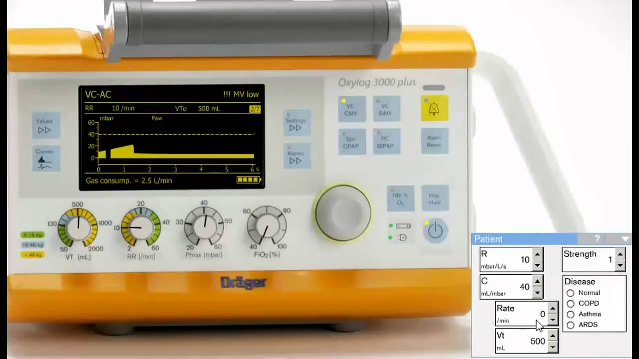 using the oxylog 3000 simulator to show patient ventilator rh youtube com drager oxylog 1000 user manual oxylog 3000 plus user manual