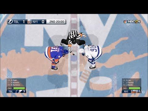 NHL 18 - New York Islanders vs Tampa Bay Lightning - Gameplay (HD) [1080p60FPS]