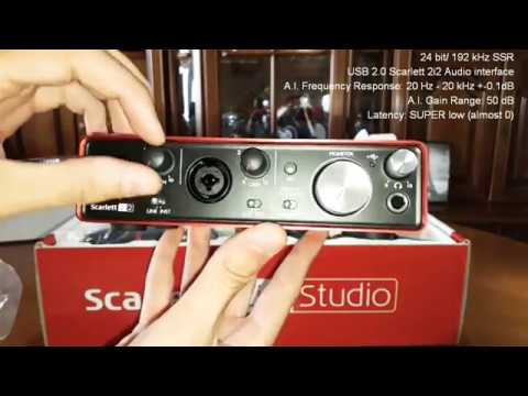 Focusrite Scarlett 2i2 (2nd Gen) Studio Bundle (Unboxing-Review)