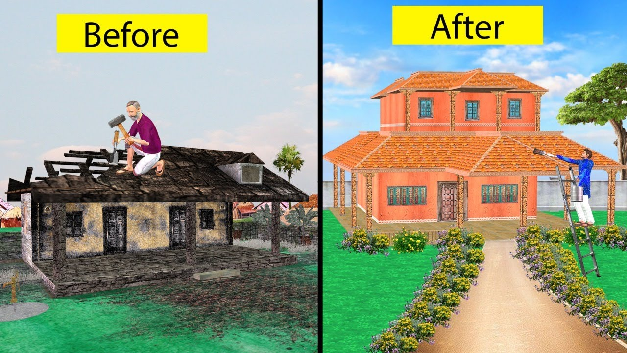 Abandoned House Restoration परित्यक्त घर मरम्मत Restoration Comedy Video हिंदी कहानिया Hindi Kahani
