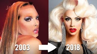 THEN AND NOW | PART 2 | CAST OF RUPAUL'S DRAG RACE | FIRST TIME IN DRAG