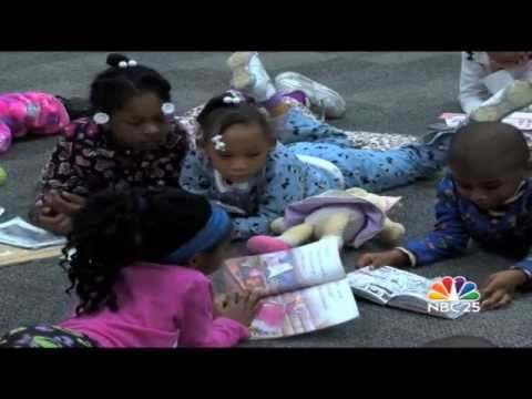 North Saginaw Charter Academy wore pajamas for a Read-A-Thon