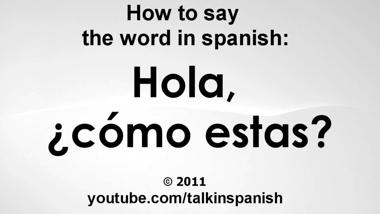 How Say No Spanish
