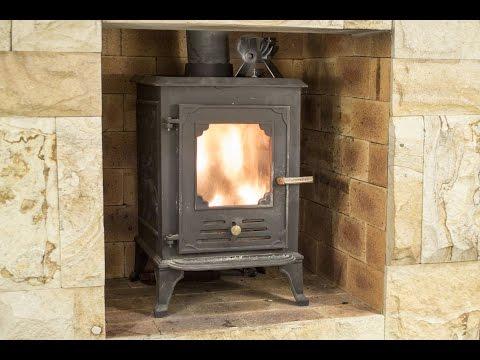 Log Burner//Fireplace 12.5cm Height Mini Heat Powered Stove Fan for Wood Eco
