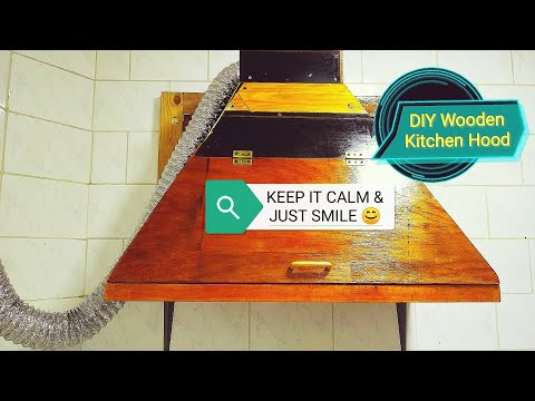 DIY Wooden Kitchen Hood easy to make one