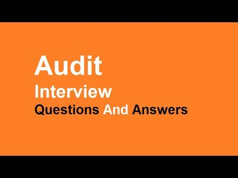 Audit Interview Questions And Answers