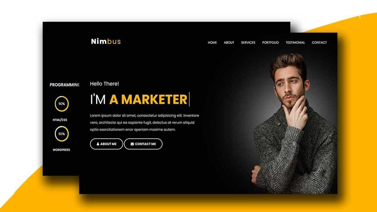 Nimbus - Personal Portfolio HTML Landing Page Template