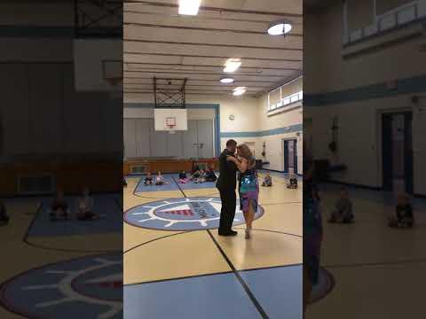 Ney Melo and Jennifer Bratt at Mast Way Elementary School