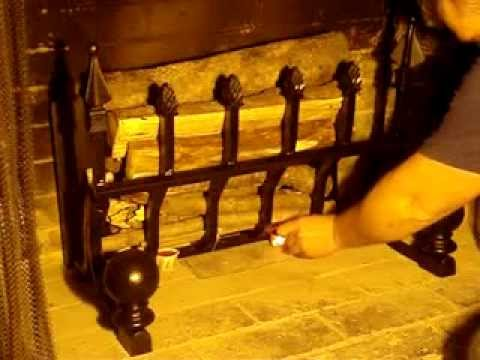 How to start a fire in a Grate Wall of Fire fireplace grate - How To Start A Fire In A Grate Wall Of Fire Fireplace Grate - YouTube
