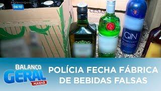 Polícia fecha fábrica de bebidas falsas