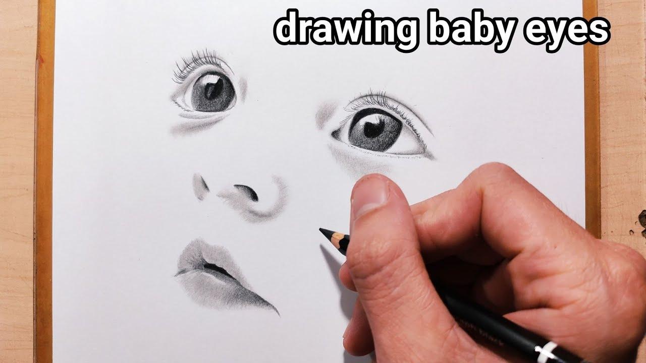 #36 – Hướng Dẫn Cách Vẽ Đôi Mắt Em Bé Có Hồn – Vẽ Chân Dung – Drawing Baby Eyes – Vẽ Tả Thực Tô Bóng