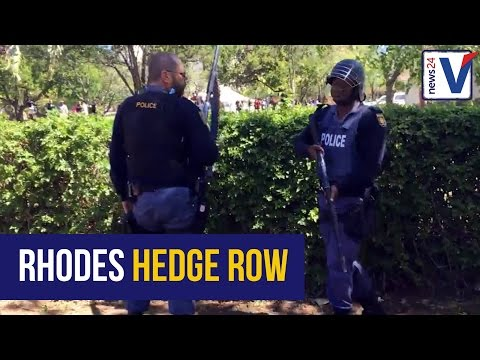 WATCH: Fury as police fire rubber bullets at Rhodes students
