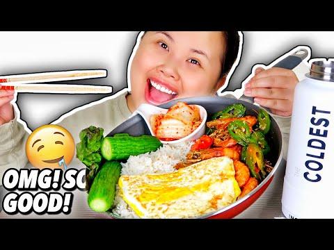 Spicy Jalapeño Salt + Pepper Crispy Shrimp Mukbang 먹방 Eating Show!