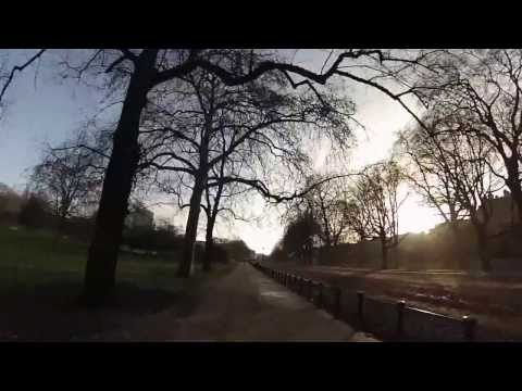 15K run around London (GoPro on head strap)