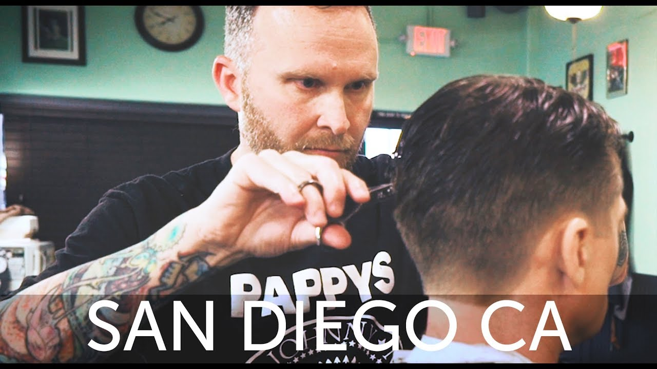 Haircut Harrys San Diego Haircut Experience At Pappys Barber Shop