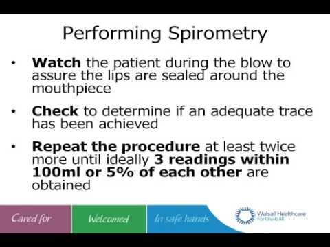 Spirometry testing / COPD - Dr Matonhodze