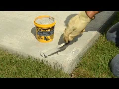 How To Make Thin Repairs To Damaged Concrete With Quikrete Youtube