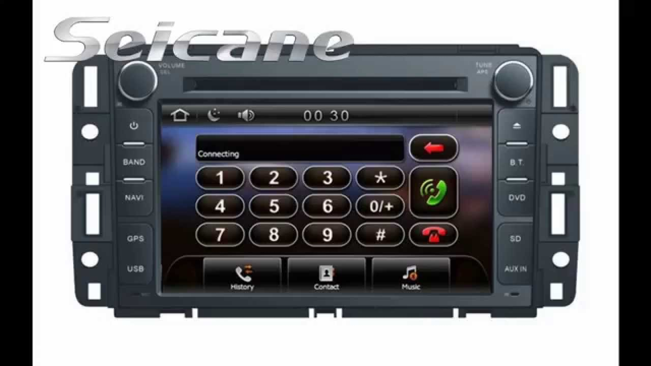 Multimedia 2007 2011 gmc acadia sierra gps navigation radio dvd player with tv rearview mp3 youtube