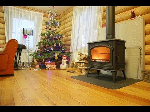 Печь камин Dovre 760 WD. Отопление в деревянном доме. Электрокотлу в помощь