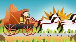 she ll be coming round the mountain   nursery rhyme express   animation   childrens song
