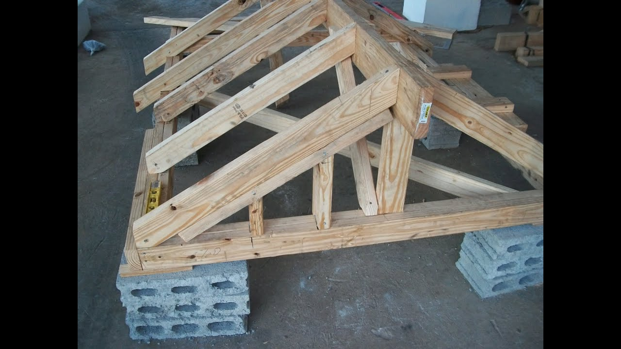 Stacking A Gable Roof Youtube
