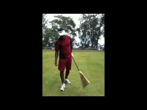 PGA Tour Golf Fitness Instructor, Gabriel Lopez & Vijay Singh – Broom Training Golf Swings
