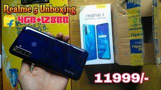 Realme 5 Unboxing Crystal Purple (4 GB+128 GB)/ Buy Flipkart:- 11999/- // NDN Painting