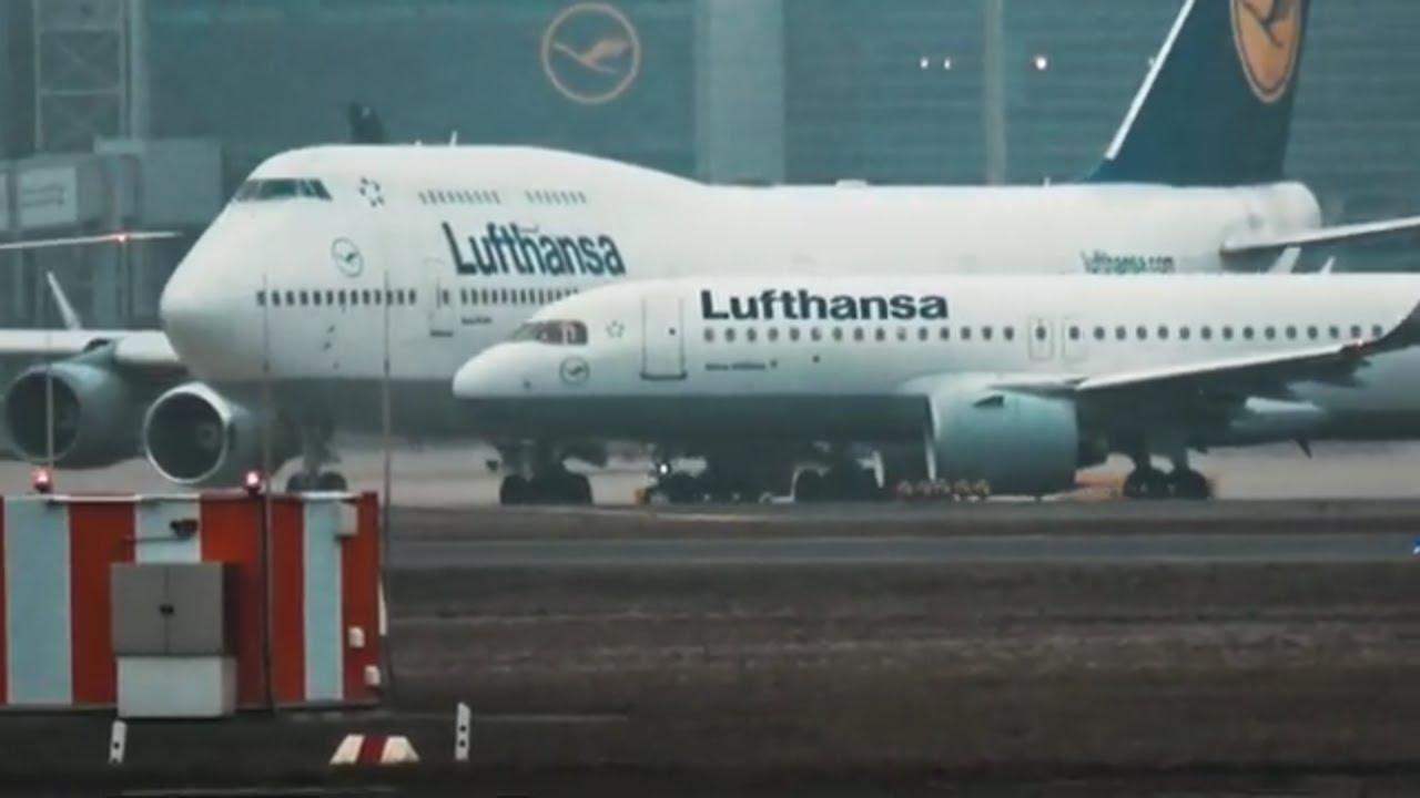 Landung Flughafen Frankfurt