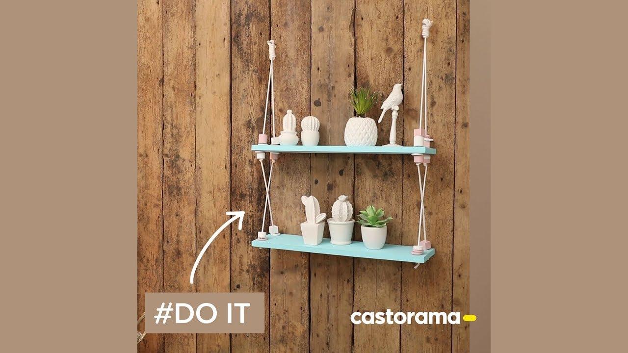 diy fabriquer une etagere suspendue en bois castorama
