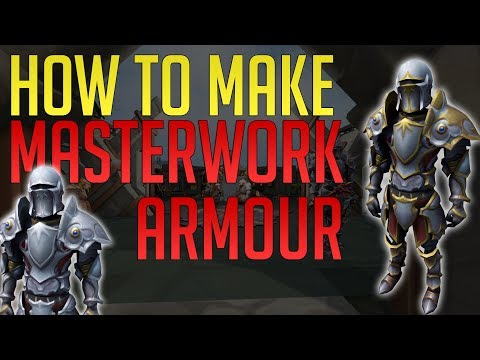 How To Make Masterwork Armour + Trim It | The Best Armour In Runescape 3
