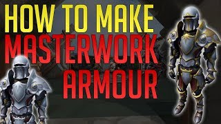 How to make Masterwork Armour + Trim it   The best armour in Runescape 3