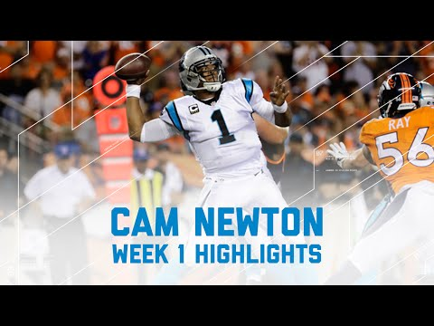 Every Cam Newton Throw & Run | Panthers vs. Broncos | NFL Week 1 Player Highlights