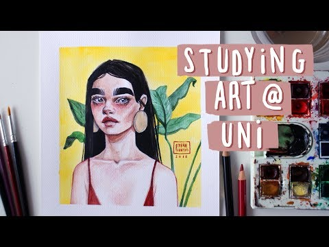 Studying Art at Uni Abroad — Experience & Advice // watercolour speed painting